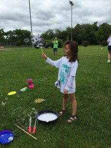 Bubbles and hula hoops were part of the family-friendly event.